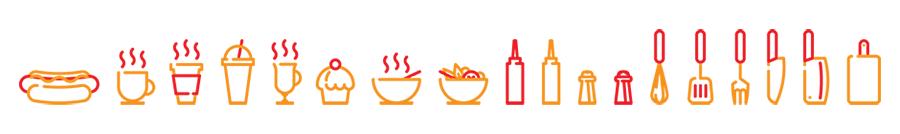 Бесплатные иконки для кафе и пит-стопа