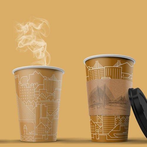 Дизайн стаканов «Город» с Владивостоком