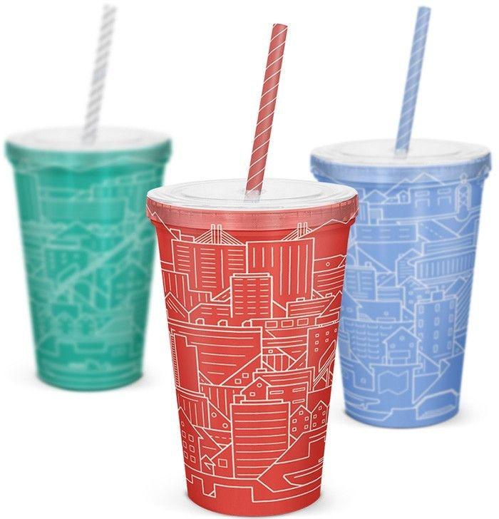 Дизайн одноразовых стаканов Город