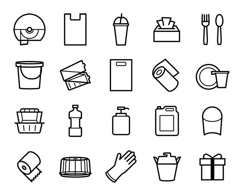 Free icons for HoReCa