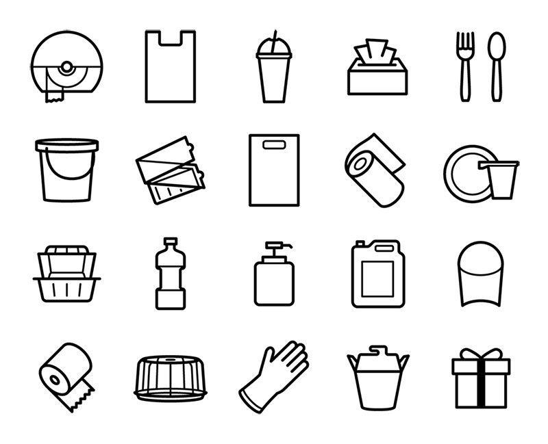 Free icons for HoReCa