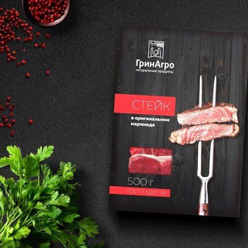 Разработка упаковки мясной продукции «ГринАгро»