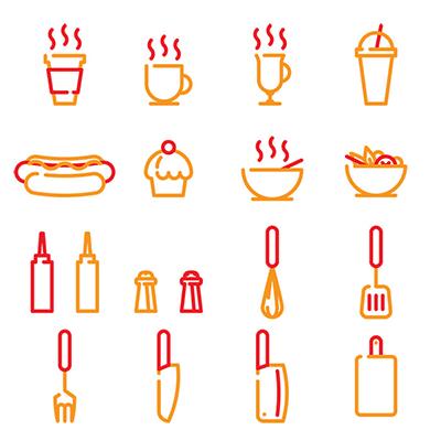 дизайн иконок для кафе