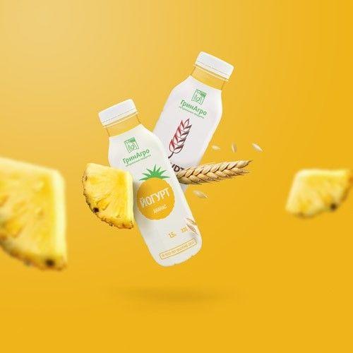 Дизайн упаковки десертных йогуртов «ГринАгро»